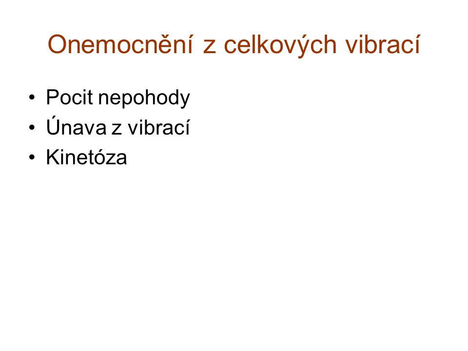 Onemocnění z celkových vibrací