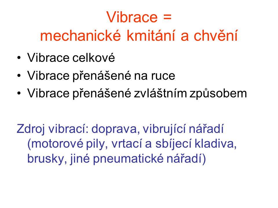 Vibrace = mechanické kmitání a chvění