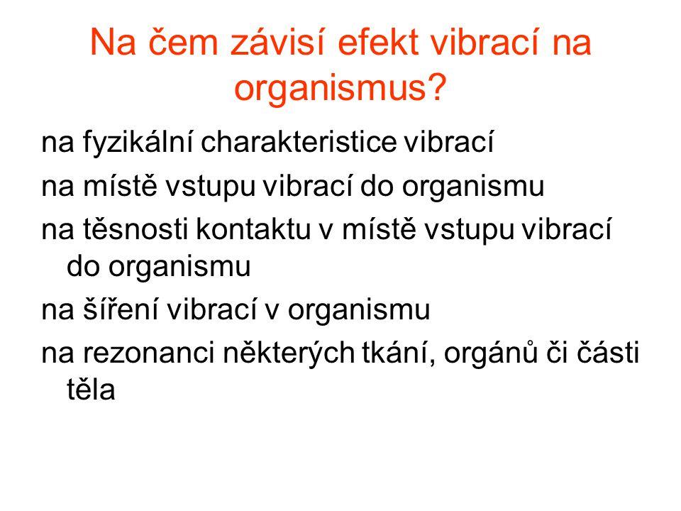 Na čem závisí efekt vibrací na organismus