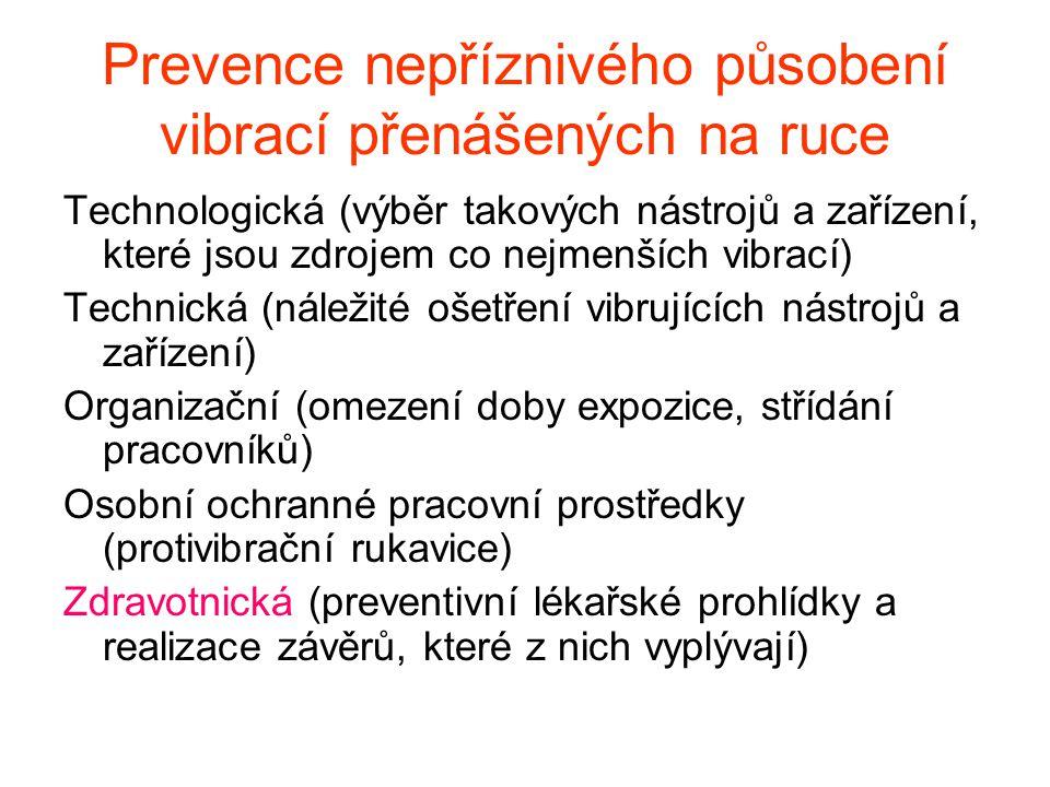 Prevence nepříznivého působení vibrací přenášených na ruce
