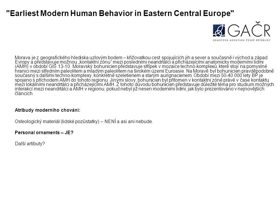 Earliest Modern Human Behavior in Eastern Central Europe