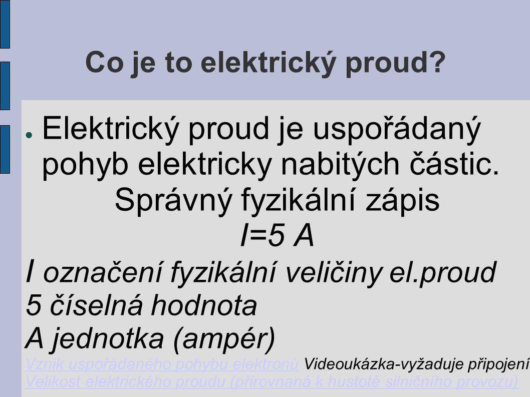 Co je to elektrický proud