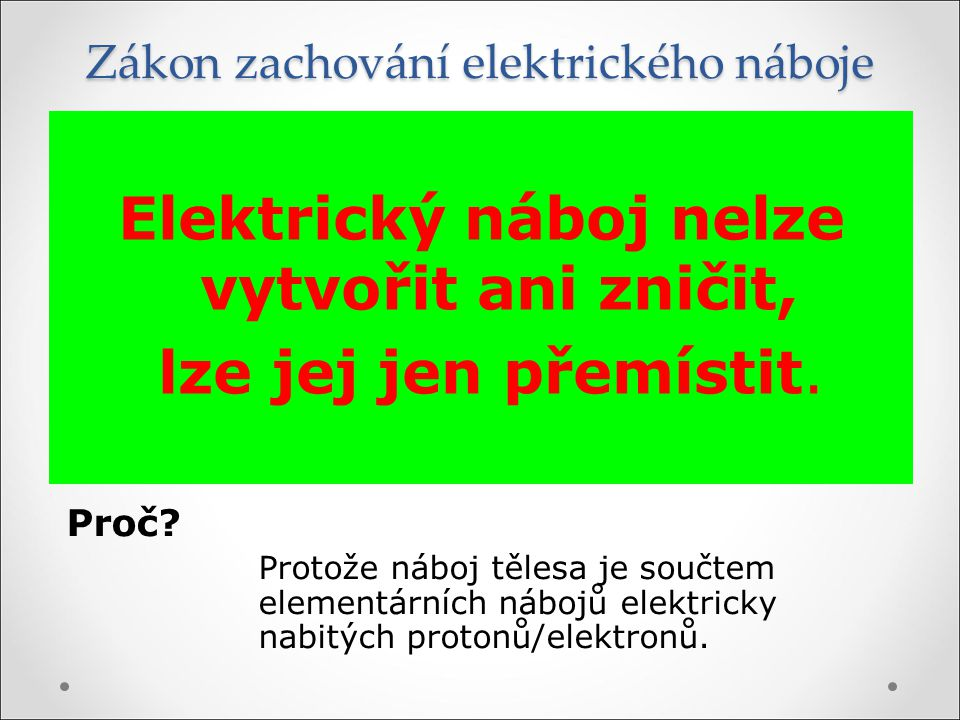 Zákon zachování elektrického náboje