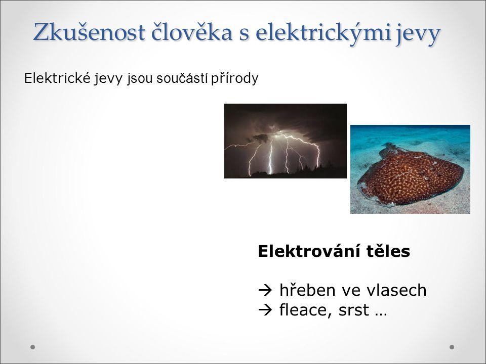Zkušenost člověka s elektrickými jevy