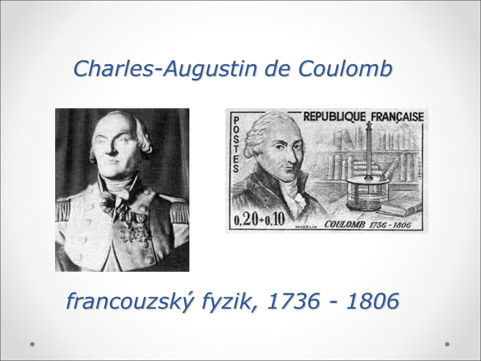 Charles-Augustin de Coulomb francouzský fyzik, 1736 - 1806