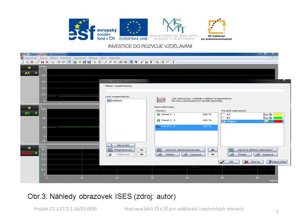 Obr.3: Náhledy obrazovek ISES (zdroj: autor)