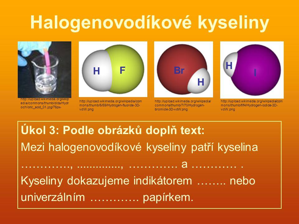 Halogenovodíkové kyseliny