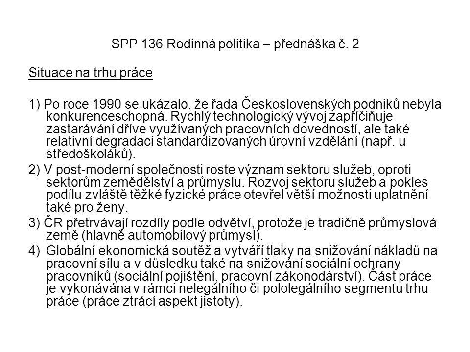SPP 136 Rodinná politika – přednáška č. 2