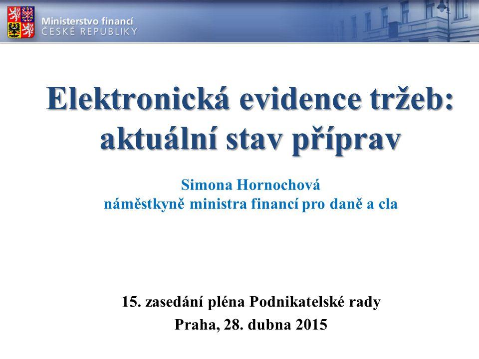 Elektronická evidence tržeb: aktuální stav příprav