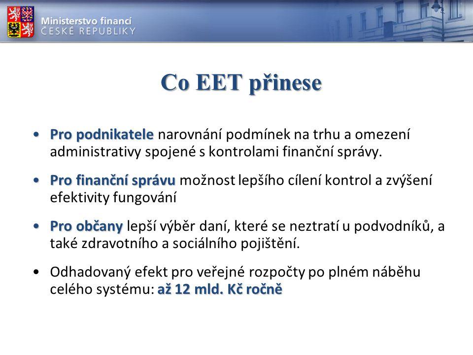 Co EET přinese Pro podnikatele narovnání podmínek na trhu a omezení administrativy spojené s kontrolami finanční správy.