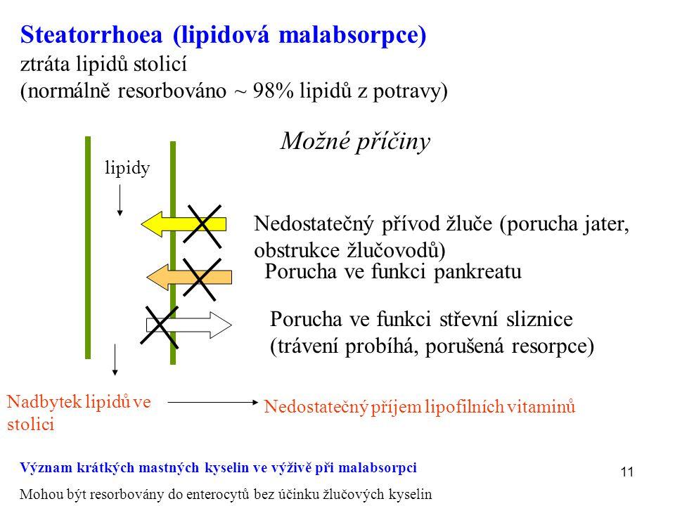 Steatorrhoea (lipidová malabsorpce)