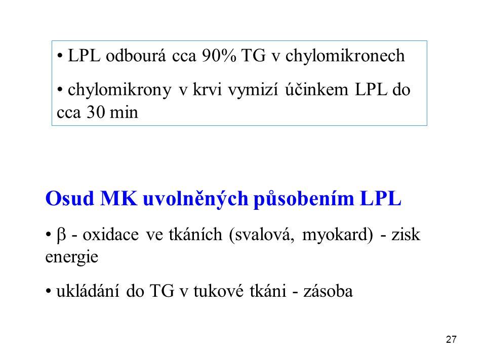 Osud MK uvolněných působením LPL