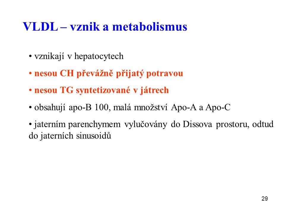 VLDL – vznik a metabolismus