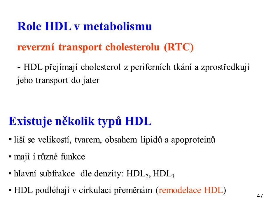 Existuje několik typů HDL