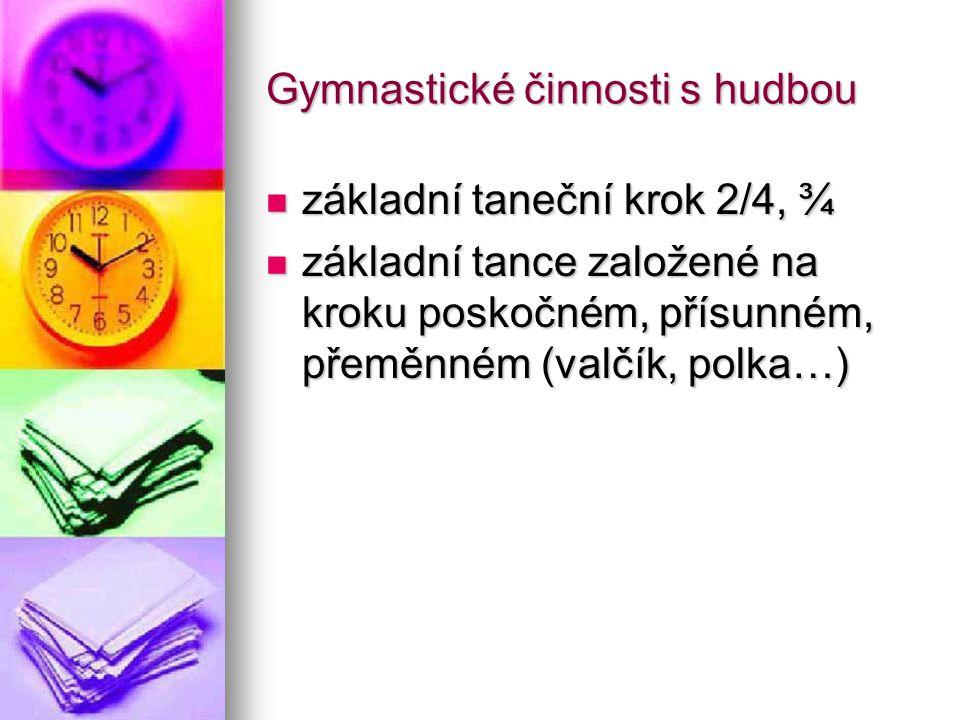 Gymnastické činnosti s hudbou