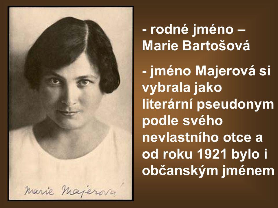 - rodné jméno – Marie Bartošová