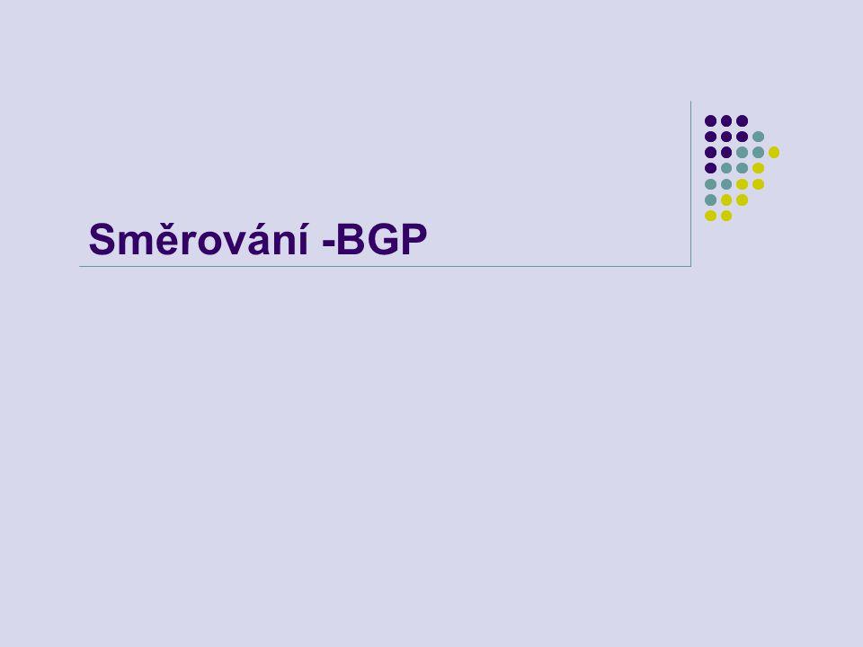 Směrování -BGP