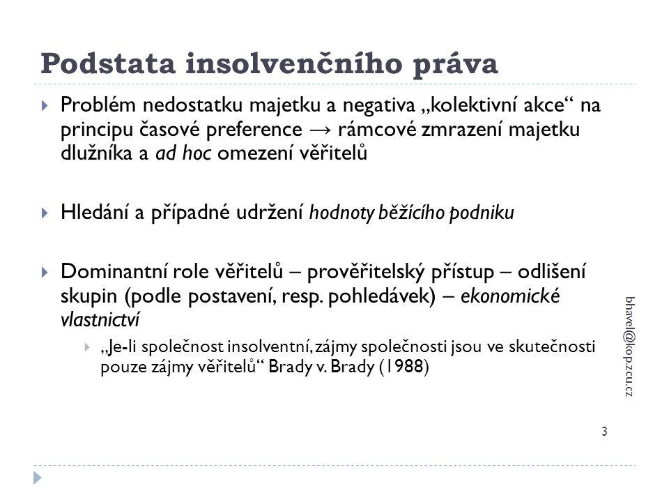 Podstata insolvenčního práva