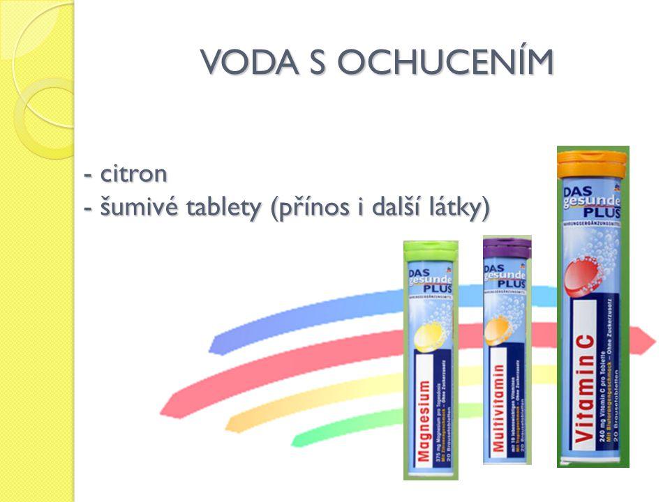 VODA S OCHUCENÍM citron šumivé tablety (přínos i další látky)