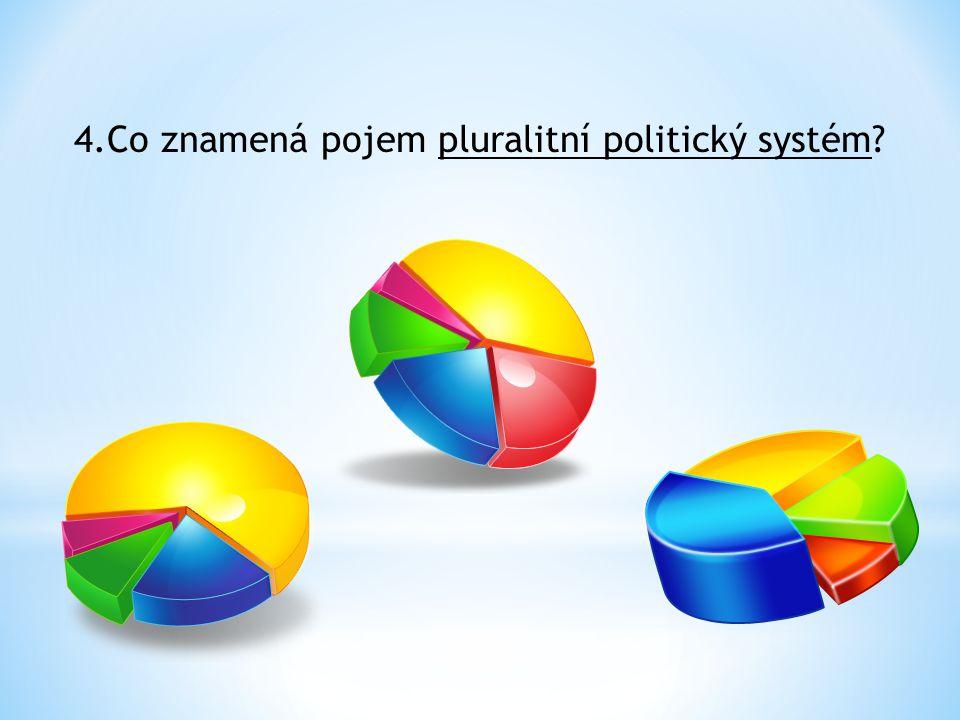 4.Co znamená pojem pluralitní politický systém