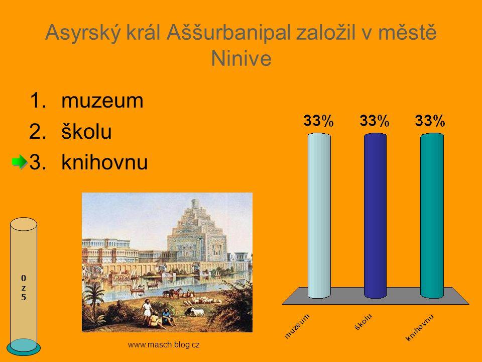 Asyrský král Aššurbanipal založil v městě Ninive