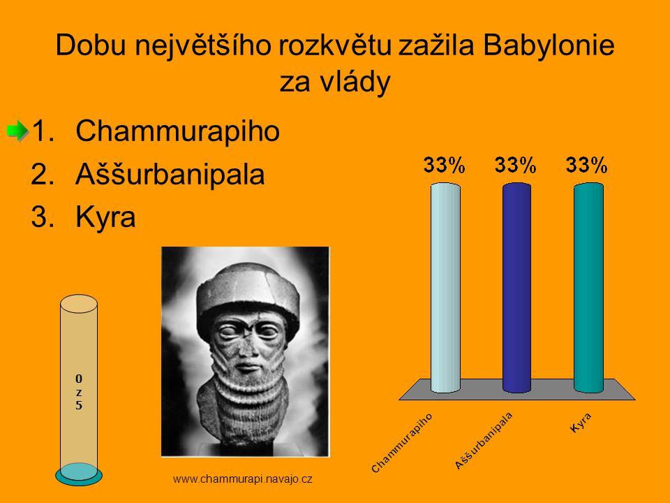 Dobu největšího rozkvětu zažila Babylonie za vlády