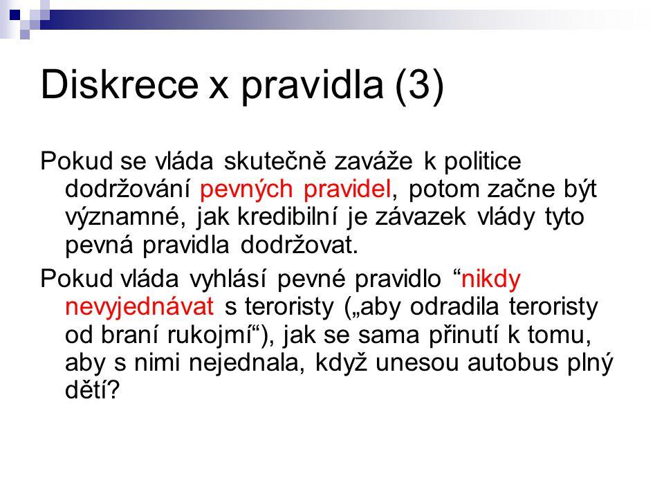 Diskrece x pravidla (3)