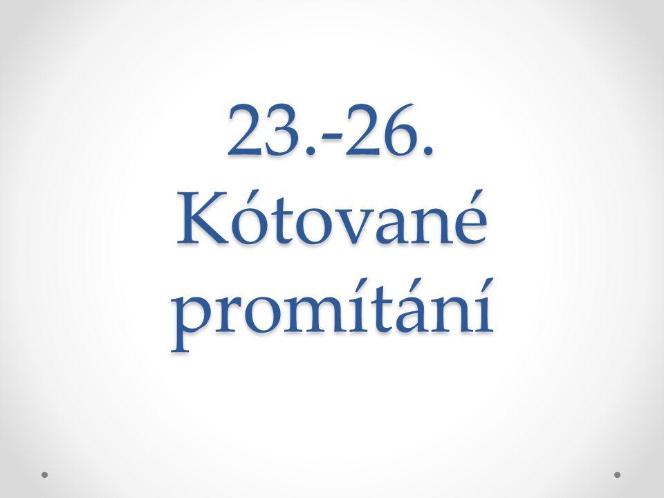 23.-26. Kótované promítání