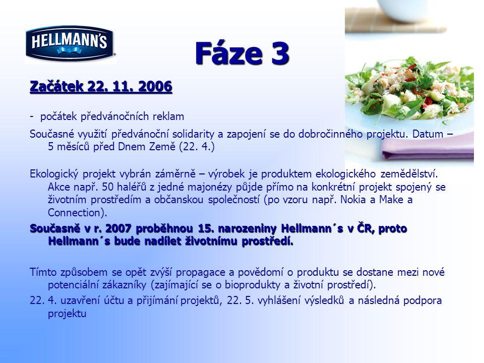Fáze 3 Začátek 22. 11. 2006 - počátek předvánočních reklam