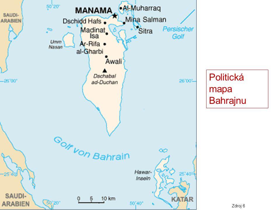 Politická mapa Bahrajnu
