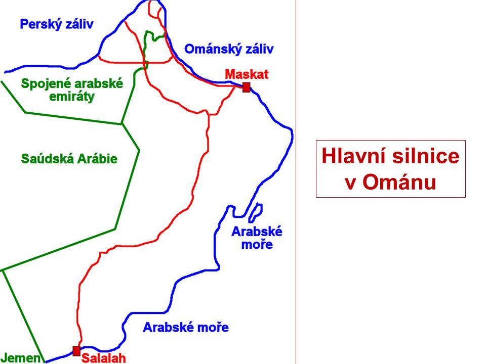 Hlavní silnice v Ománu