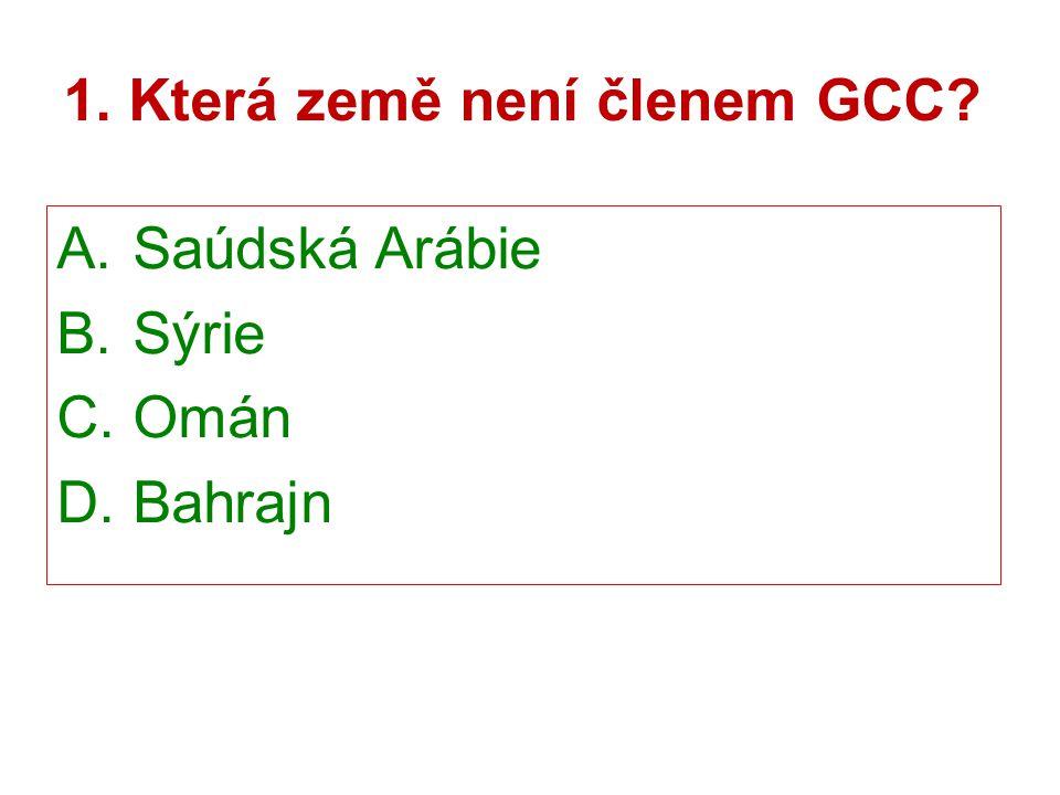 1. Která země není členem GCC