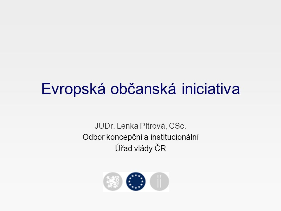 Evropská občanská iniciativa