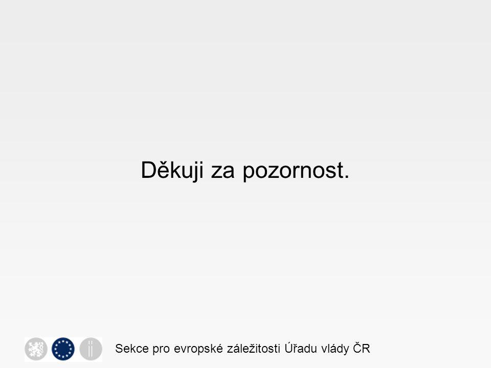 Děkuji za pozornost. Sekce pro evropské záležitosti Úřadu vlády ČR