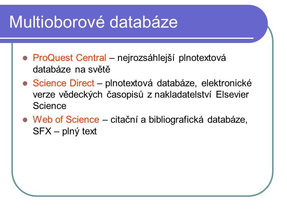 Multioborové databáze