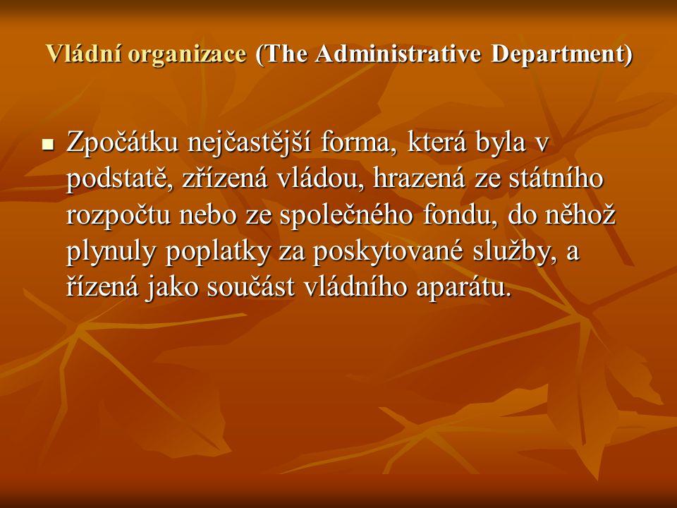 Vládní organizace (The Administrative Department)