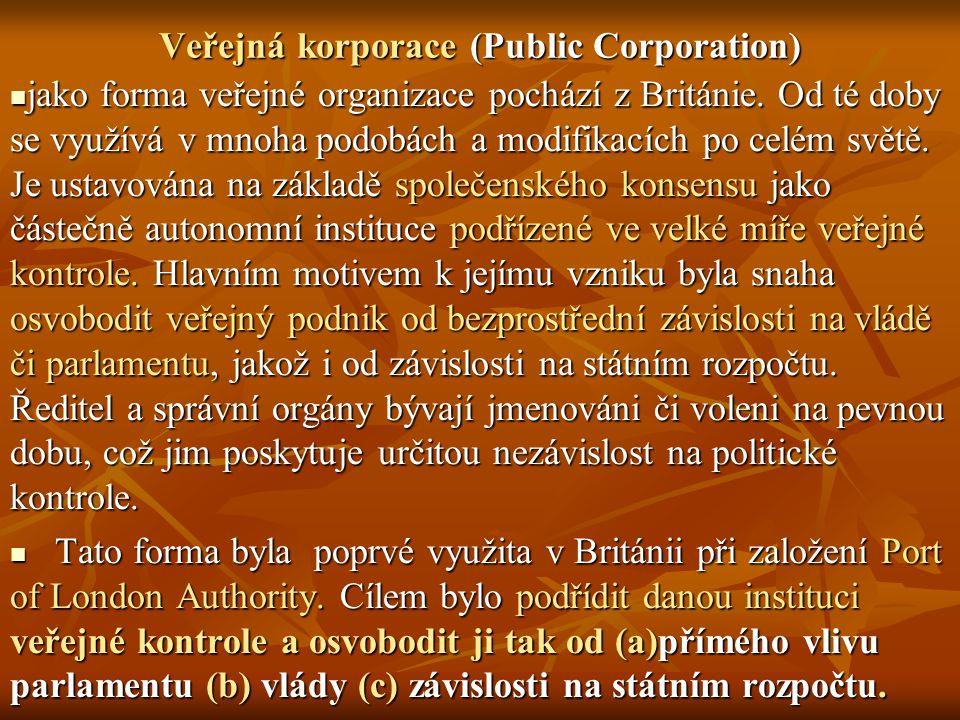 Veřejná korporace (Public Corporation)