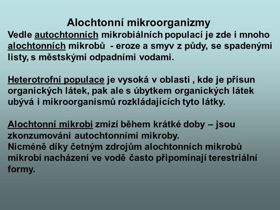 Alochtonní mikroorganizmy