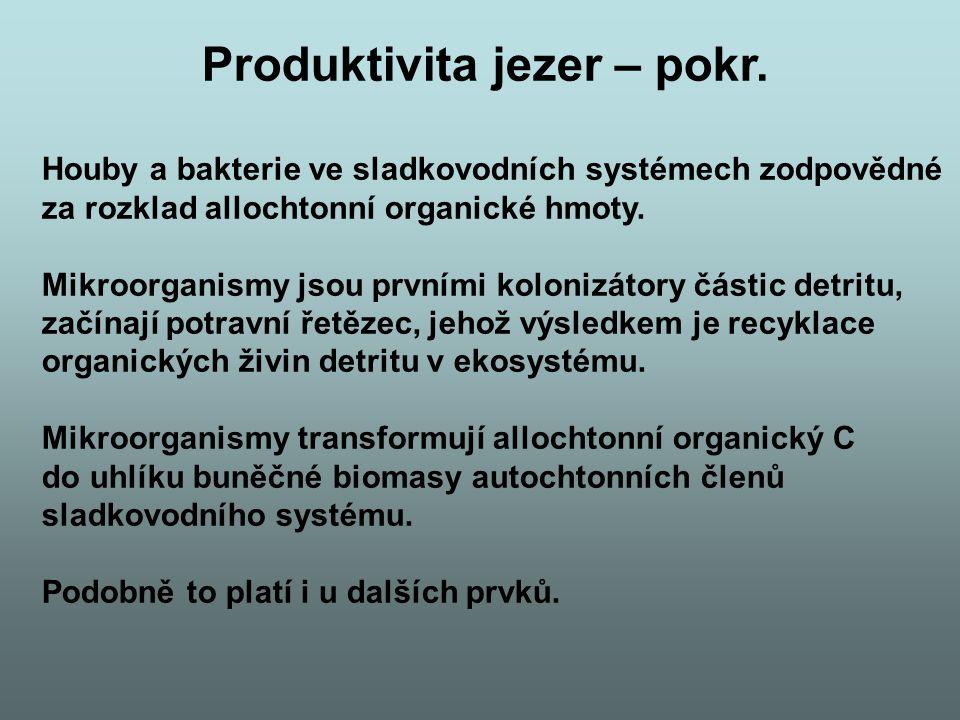 Produktivita jezer – pokr.