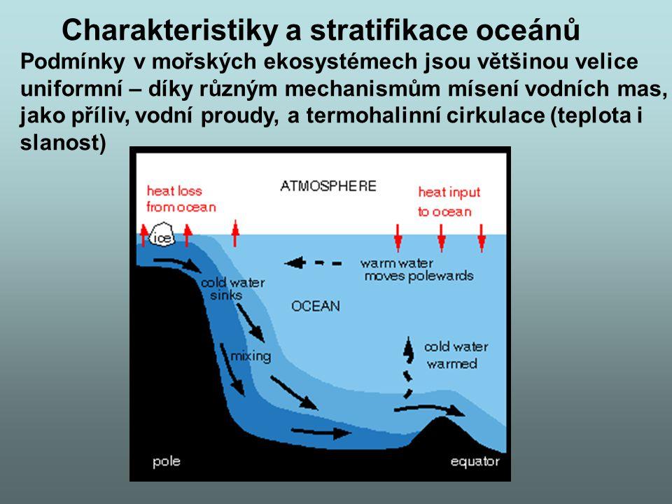 Charakteristiky a stratifikace oceánů