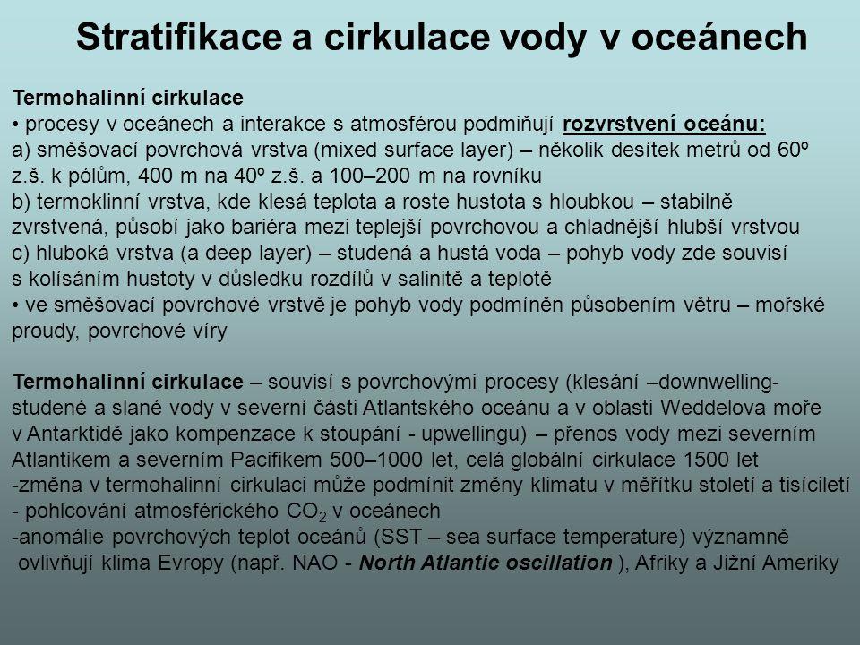 Stratifikace a cirkulace vody v oceánech