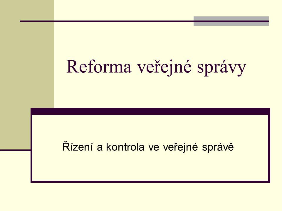 Reforma veřejné správy