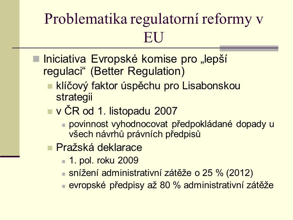 Problematika regulatorní reformy v EU