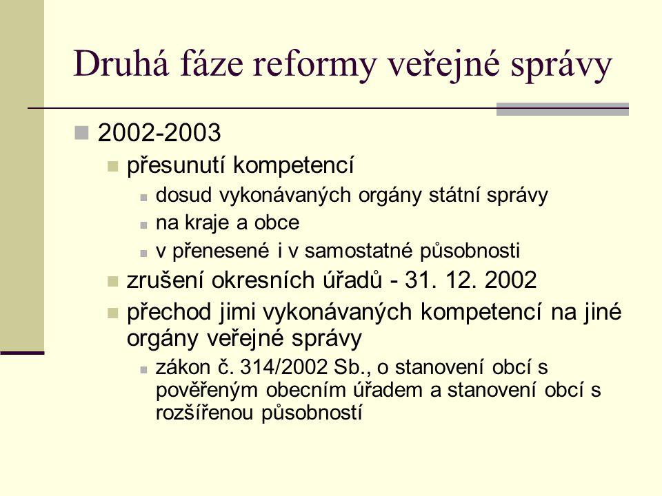 Druhá fáze reformy veřejné správy