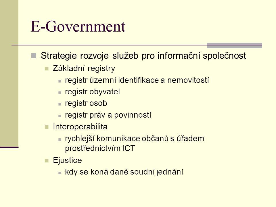 E-Government Strategie rozvoje služeb pro informační společnost