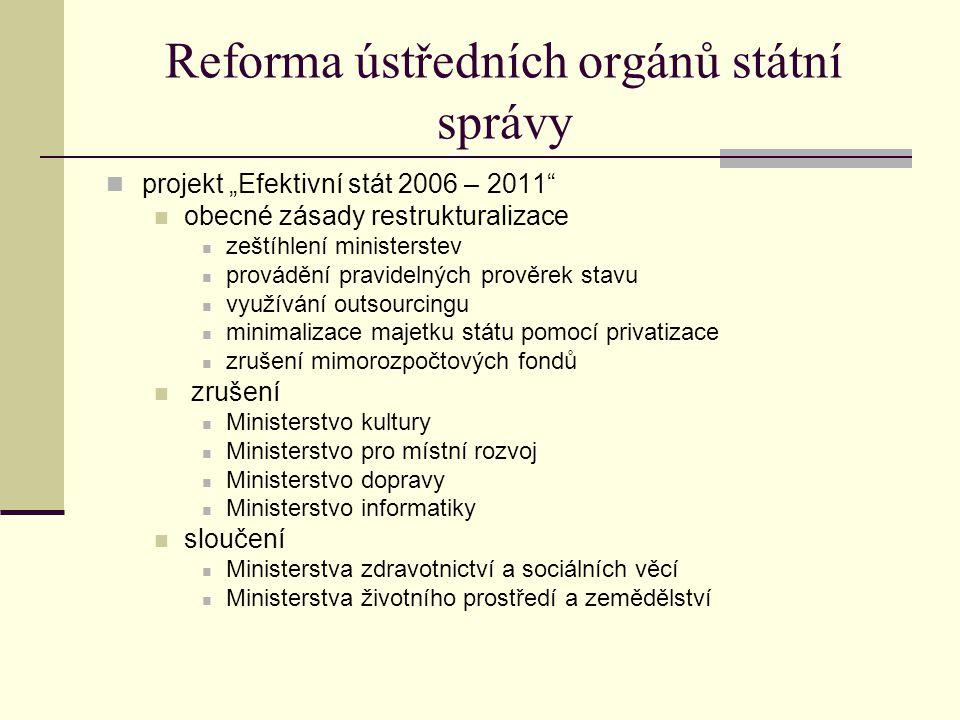 Reforma ústředních orgánů státní správy