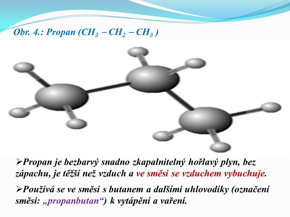 Obr. 4.: Propan (CH3  CH2  CH3 )