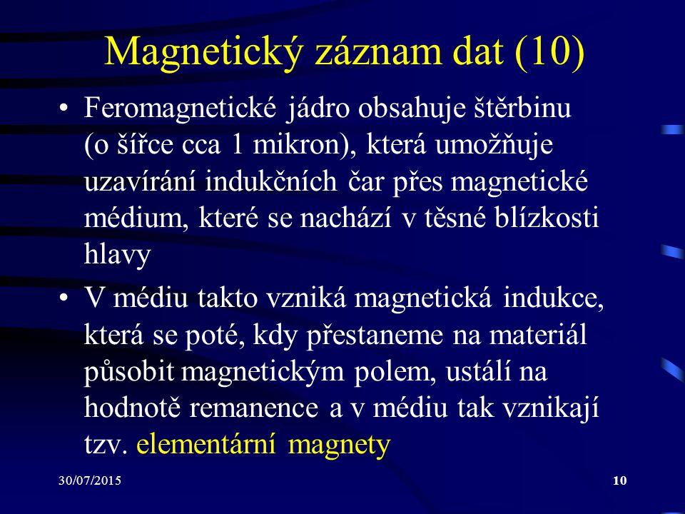 Magnetický záznam dat (10)