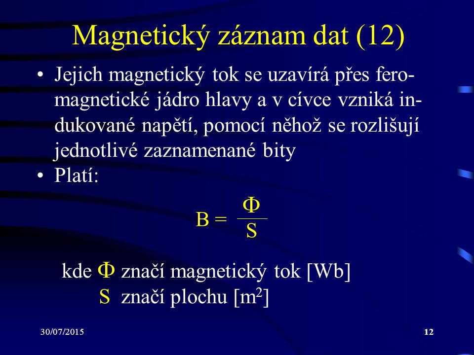 Magnetický záznam dat (12)