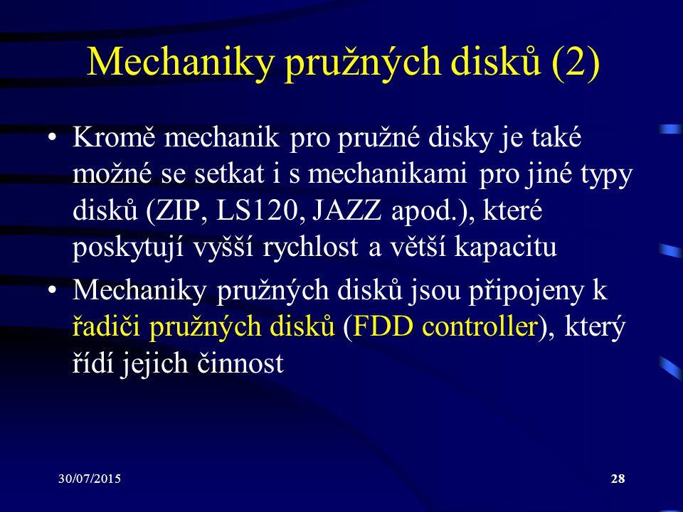 Mechaniky pružných disků (2)